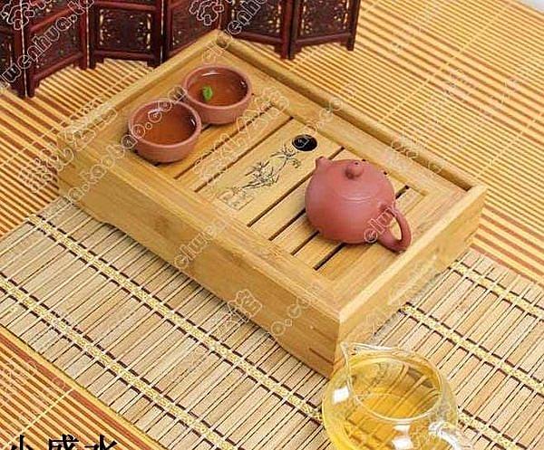 孟宗竹制小中大盛水蓄水茶盤