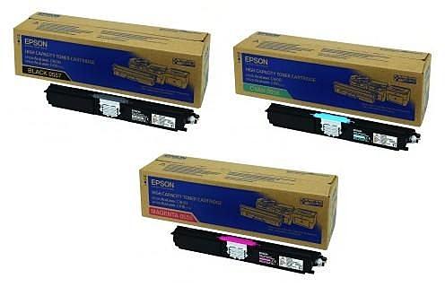 EPSON㊣原廠碳粉匣S050558黃色S050559紅色S050560藍色 一般容量(1,600張) 單支任選適用AcuLaser C1600/1600/CX16NF