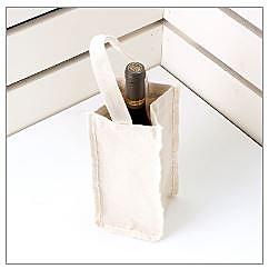 【20個含1色印刷】 超聯捷 本白帆布紅酒袋 單瓶裝 客製 S1-01080