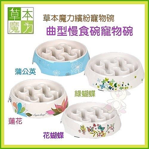 *WANG*草本魔力繽紛寵物碗《曲型慢食碗-蒲公英 | 綠蝴蝶 | 蓮花 | 花蝴蝶》四種花色可選