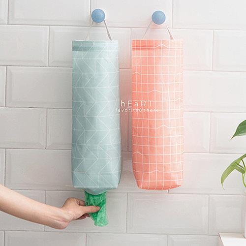 幾何簡約抽取式塑膠袋收納掛袋 居家雜貨 防水 掛袋