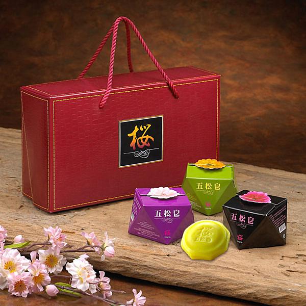櫻的五松皂 松葉精華香皂禮盒組 三顆裝 (購潮8)