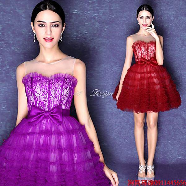 (45 Design) (45 Design) 訂做款式7天到貨 專業訂製款 大尺碼 婚紗禮服 表演 走秀 主持訂婚親家母