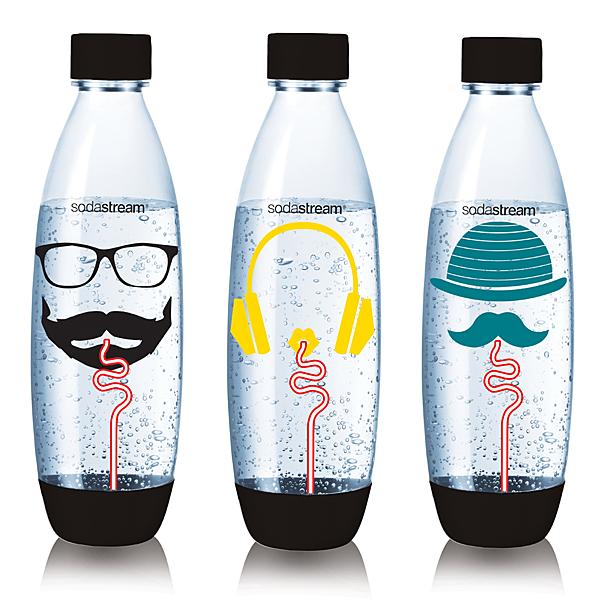 【Sodastream】嬉皮士水滴寶特瓶1L-三入