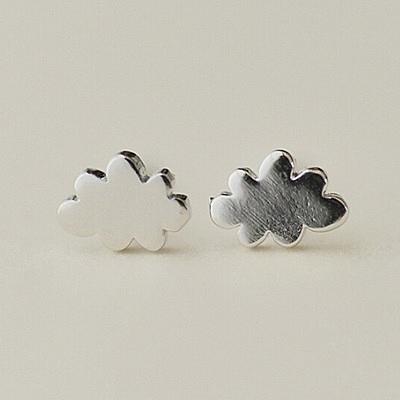 925純銀耳環 (耳針式)-簡約百搭雲朵生日母親節禮物女飾品73ag255【巴黎精品】