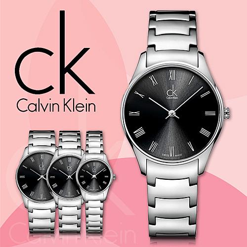 CK手錶專賣店 K4D2214Y 中 男錶 中性錶 數字  石英 白面 礦石玻璃鏡面 不鏽鋼錶殼
