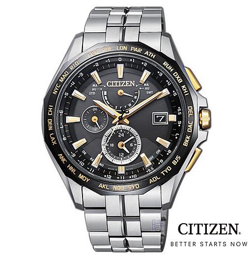 CITIZEN 星辰 光動能 電波錶 鈦金屬 AT9095-50E