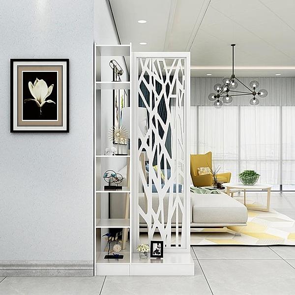 屏風隔斷簡約現代中式玄關門廳創意鏤空雕花時尚辦公櫥窗玄關酒櫃 萬聖節鉅惠