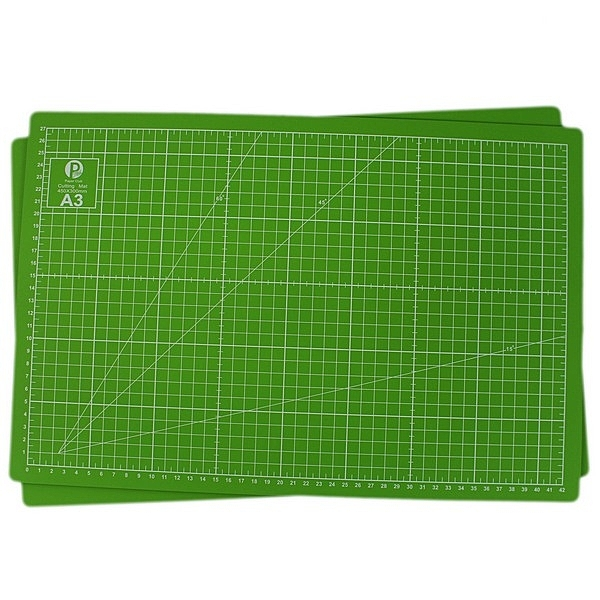 A3彩色切割墊 (蘋果綠) 萬國牌JM008GA3/一片入{定140} PVC軟質 切割板 MIT製