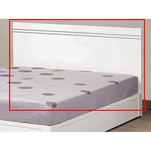 床架 床頭箱.床頭片 MK-684-12 艾麗絲3.5尺白色床頭片 (不含床底)【大眾家居舘】