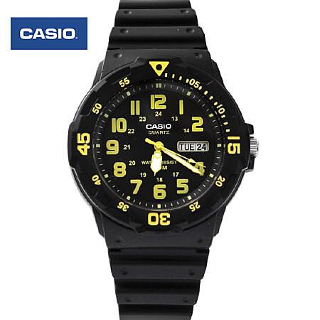 CASIO卡西歐 鮮豔亮黃質感軍裝手錶 休閒運動腕錶 防水100米【NE1427】原廠公司貨