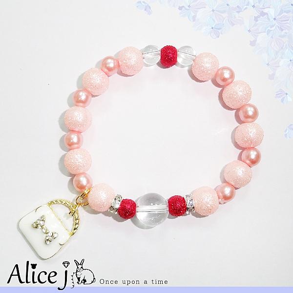 粉嫩戀愛運 好感度提升能量白水晶手鍊