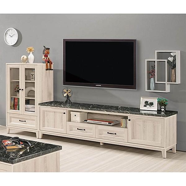 【森可家居】雪莉8.8尺原石L櫃 8CM820-1 客廳高低櫃 展示 電視櫃 木紋質感 無印 北歐風