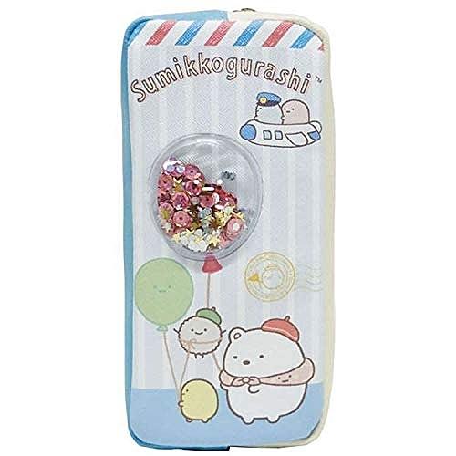 【角落生物氣球鉛筆袋】角落生物 氣球 亮片 鉛筆盒 鉛筆袋 日本正版 該該貝比日本精品