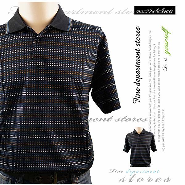 【大盤大】男 格紋 方塊 圖形 有領POLO衫 夏 休閒衫 L號 情人節送禮 幾何 棉衫 父親節 工作