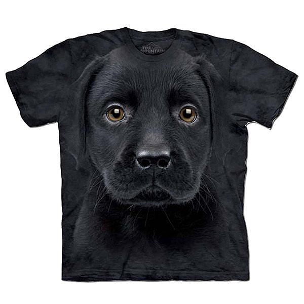 『摩達客』美國進口【The Mountain】自然純棉系列 小黑拉不拉多犬 T恤 (10414045004)