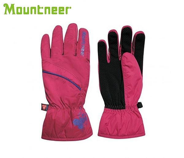丹大戶外【Mountneer】山林休閒 Primaloft防水手套 12G06- 34 深桃紅/紫