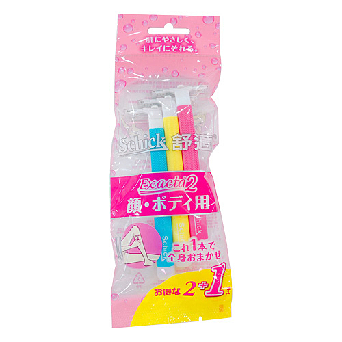 Schick舒適牌 舒絲 仕女輕便刀 2入【BG Shop】