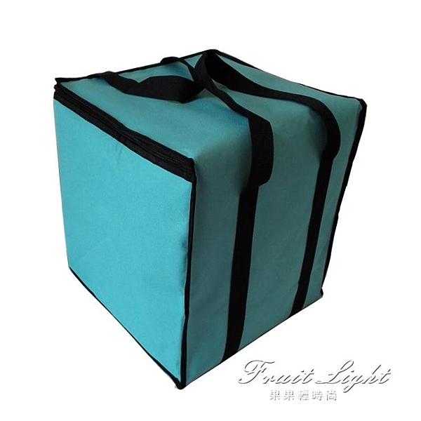 保冷袋 12寸雙層加高蛋糕保熱保冷袋 大號加厚牛津布冰包保溫包 果果輕時尚
