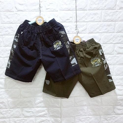 ☆棒棒糖童裝☆(E19012)夏男大童鬆緊腰迷彩邊平織短褲  S-XXL