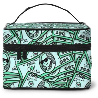 化粧ポーチ ドル 化粧バッグ 化粧箱 プロ用 化粧ケース メイクボックス 高品質 大容量 化粧品収納バッグ 洗面用具入れ 出張用 旅行用品収納バッグ 小物入れ 化粧道具 カバー付きのファスナー
