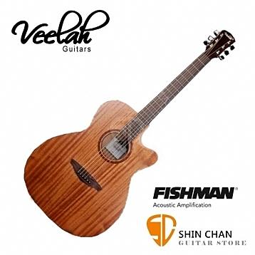 Veelah吉他 V1-OMMCE 電木吉他/全桃花心木/OM桶身/切角/面單板 贈原廠吉他袋/V1專用(全配件)
