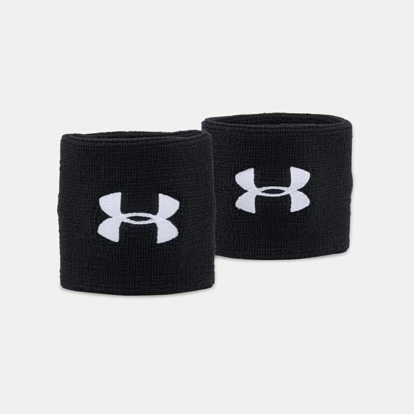 UA 19SS 健身腕帶 運動腕帶 成對 3寸腕帶 Performance系列 1276991-001 黑【樂買網】