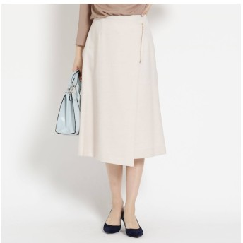 【インディヴィ/INDIVI】 ◆[L]フラッカーサ ラップ風スカート