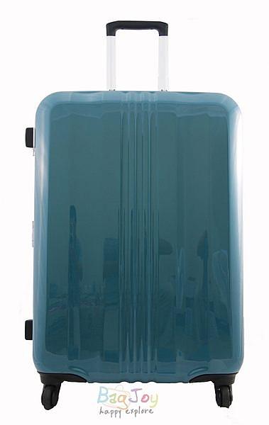 YUE 亮面硬殼細鋁框29吋行李箱(湖水綠)