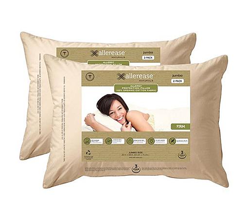 AllerEase 有機布套枕頭二入組