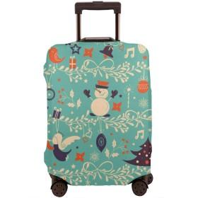 スーツケースカバー トランクカバー 防水 伸縮 浅い 青い クリスマス ファスナー おしゃれ おもしろい かわいい プリント お荷物カバー 防塵 弾力性 旅行 S/M/Lサイズ カバーのみ 着脱簡単 目立つ 紛失防止 個性 YAMAYAGO