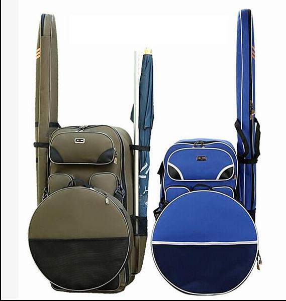 釣椅包魚護包海竿包魚竿包加寬漁具包釣魚包多功能防水漁具雙肩包-享家