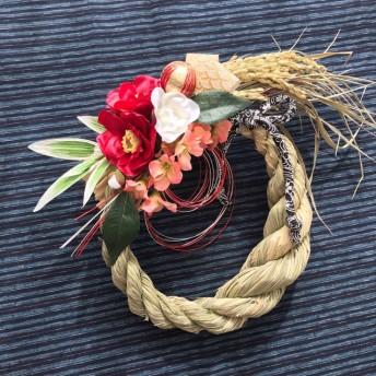稲から育てたしめ縄・お正月飾り 青海波