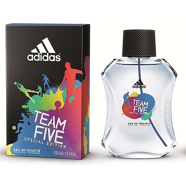 【送禮首選】adidas愛迪達 絕對無敵TEAM FIVE(五人團隊)運動男性香水-100ml [48176]