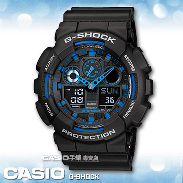 CASIO 手錶專賣店 G-SHOCK GA-100-1A2 男錶 重型機械感超MAN強悍