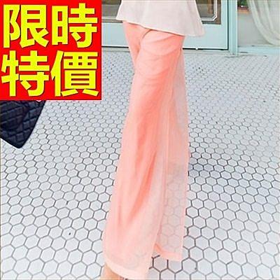 寬褲-修腿經典清新女長褲61f43[巴黎精品]