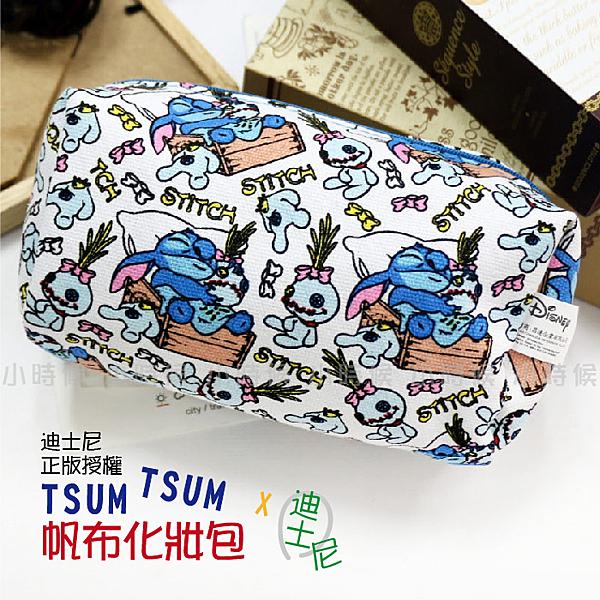 ☆小時候創意屋☆ 迪士尼 正版授權 史迪奇 TSUM TSUM 帆布 化妝包 筆袋 收納包 鉛筆盒