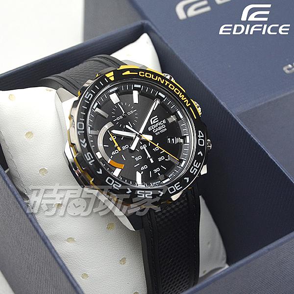 EDIFICE EFR-566PB-1A 賽車風格設計運動休閒腕錶 男錶 防水手錶 黑x黃 EFR-566PB-1AVUDF CASIO卡西歐