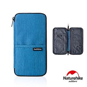 Naturehike 多功能防水旅行護照證件收納包藍色