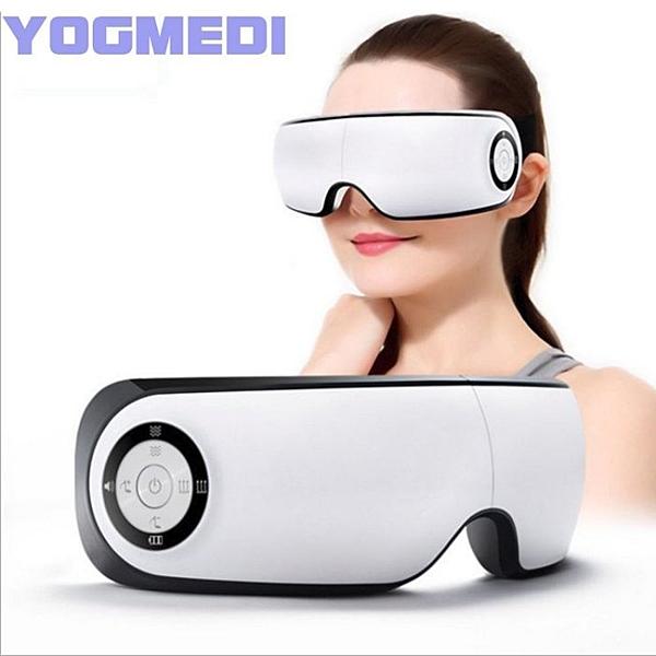 【Love Shop】YOGMEDI 213無線氣壓式眼部按摩器 可折疊震動熱敷護眼儀眼罩