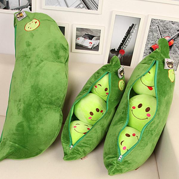 可愛豌豆莢抱枕靠墊布娃娃大號毛絨玩具兒童玩偶公仔生日禮物女孩·享家生活館 YTL