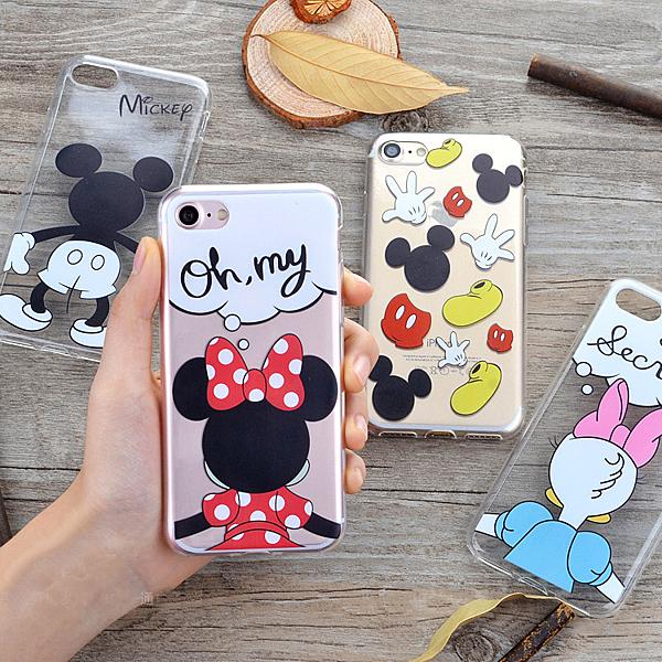 iPhone7背影卡通情侣手機套i7 plus iPhone6S/ plus 手機套