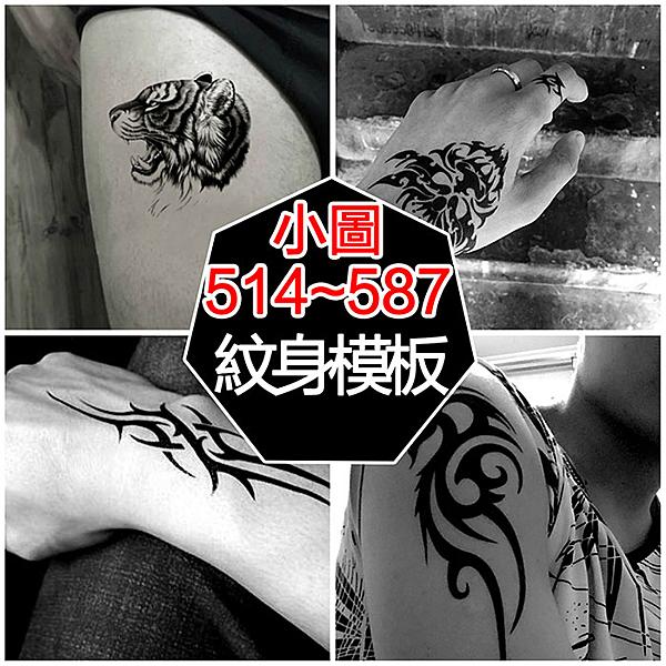 【PG08】小圖(514-573)防水紋身貼 紋身模版 半永久紋身 刺青 (總額100元上才能出貨)