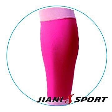 [JIANI SPORT]MST檢驗款/鐵人三項專用強壓腿套/JS13/螢光粉/SMLXL/登山/慢跑/超馬/自行車/三鐵/球類/運動