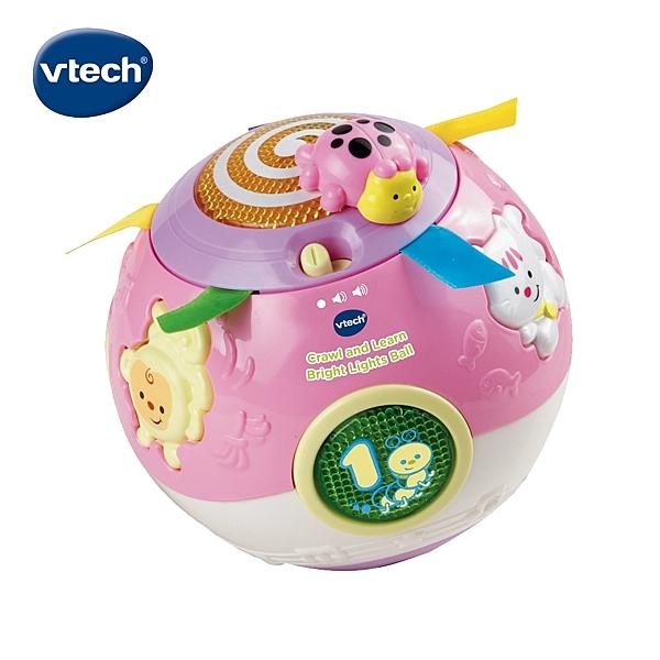 【 Vtech 聲光玩具 】炫彩聲光滾滾球 - 粉╭★ JOYBUS玩具百貨