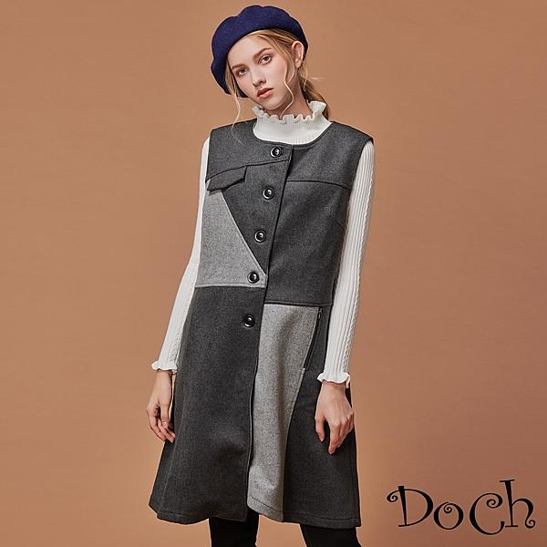 利用灰階色系的色塊拼接nn類似洋裝的款式修飾身形曲線nn展現新時尚都會風範~