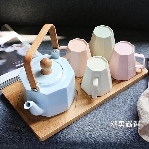 歐式陶瓷茶具套裝下午茶花茶家用茶盤茶具整套茶道套裝xw