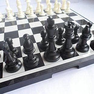 大號 折疊磁性國際象棋 磁性棋盤