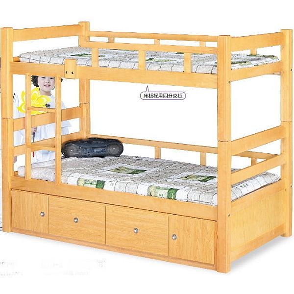 雙層床 FB-600-1 白楓木3.7尺雙層床 (不含床墊) 【大眾家居舘】