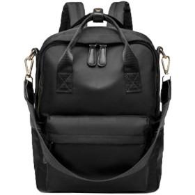 バックパック女性の野生の大容量オックスフォード布盗難防止多目的バックパック旅行バッグ韓国潮のキャンパスのバックパックのハンドバッグ-blac
